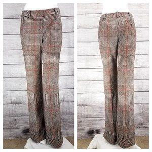 Classiques Entier 4 Flare Leg Plaid Pant Wool Silk
